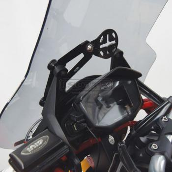 Support for navigation system device on Moto Guzzi V 85 TT - side view