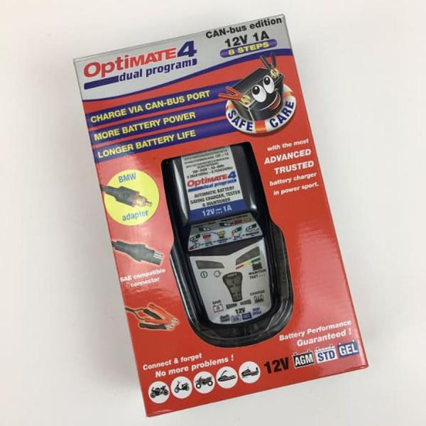 "Battery charger OPTIMATE 4 ""CAN BUS EDITION"" for BMW motorcycles"