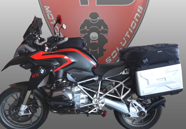 Additional bags on top of the BMW Vario side cases